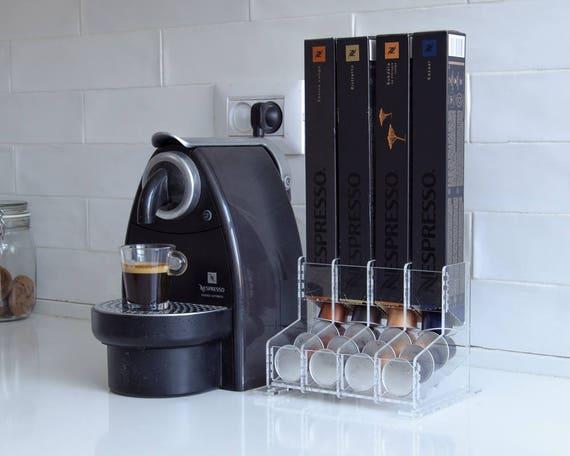 clear nespresso coffee capsules holder 40 capsule storage. Black Bedroom Furniture Sets. Home Design Ideas