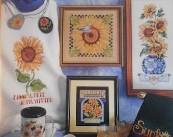 Sunflowers, Sunflowers, Sunflowers, ASN, Pattern Leaflet #3630, 1993
