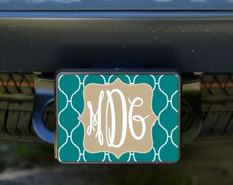 Personalized Hitch Cover, Monogram Trailer Hitch Cover, Trailer Hitch Cover, Custom Hitch Cover, Personalized Car Accessories, Hitch Cover