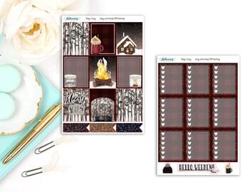 Stay Cozy   Fall/Winter Planner Sticker Deluxe Kit