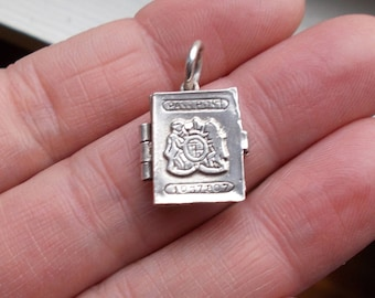 Very Cool Passport charm pendant solid sterling silver locket