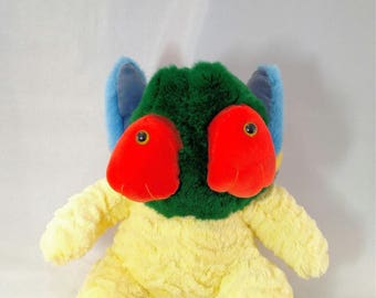 Puckle. Frankenfuzzy. Soft Sculpture. Stuffed animal. Toy