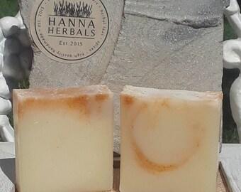 Mango Papaya Soap - summer soap - citrus soap - cold processed soap - vegan soap