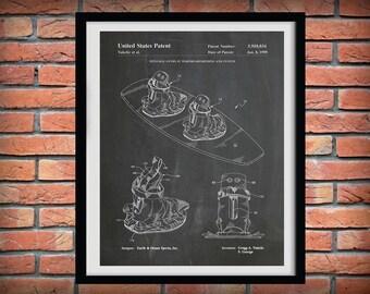 1999 Wakeboard Patent Print  - Water Ski Blueprint - Nautical Decor - Water Skier Gift - Water Sports Art - Beach House Decor