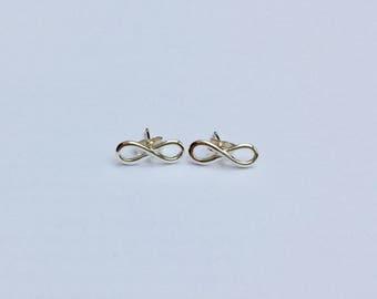 Sterling silver infinity earrings/infinity earrings/silver ear studs/sterling silver infinity studs