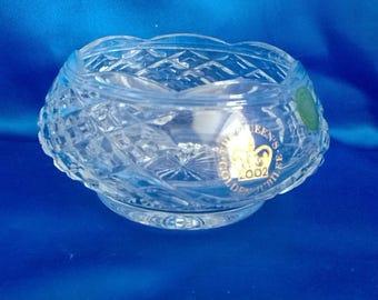 Vintage Royal Welsh Lead Crystal Queen Elizebeth's Golden Jubilee Bowl