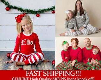 Christmas Pajamas - Personalized Christmas Pajamas, Monogram Christmas Pajamas, Newborn Christmas Gown, Family Christmas PJs