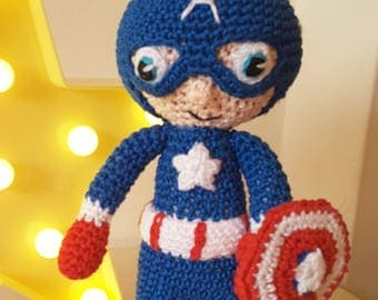 Disney/Marvel Inspired 'Captain America' - Crochet Pattern Only