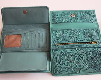 100% Leather Women's Wallet. PERSONALIZE YOURS! Wide Selection of Colors!