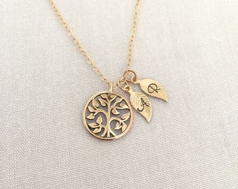 Personalized Tree Necklace, Mother Necklace, Tree of Life Necklace, Grandma Gift, Mother of The Bride Gift, Mother Jewelry, Mom Gift