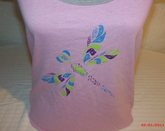 Grateful Dead Shirt.This Shirt is a inspired Psychedelic DragonFly with a 13 point Bolt. Ripple lyrics on the back.