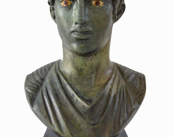 Charioteer of Delphi sculpture bust reproduction