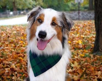 Plaid Dog Bandana - Dog Bandana Snap - Dog Bandana Over the Collar - Gifts for Dog Moms - Pet Bandana - Dog Bandanna - Gifts for Dog Lovers