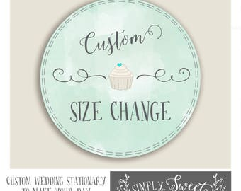 STICKER SIZE CHANGE. Love our sticker design but need a size change? Please use this lisiting