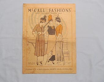 McCall Fashions – Original Catalog of Fashion Sewing Patterns for August 1914