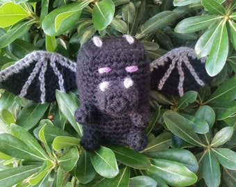 Amigurumi Ender Dragon : Stampy Cat Cake Topper inspired by Minecraft
