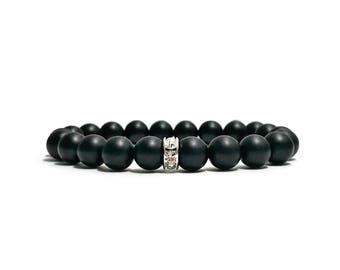 Black Bead Bracelet Matte Black Onyx Bracelet for Women Mala Bracelet Stackable Bracelet Womens Bracelet Stretch Bracelet Stack Bracelet