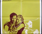 "PRETTY POISON ~ Original 1968 U.S. 1 Sheet Movie Poster ~ Very Fine Condition 27""x41"" ~ Anthony Perkins and Tuesday Weld! Superb Graphics!"