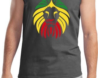 Men's Rasta Lion Head Tank Top LIONHEAD-2200
