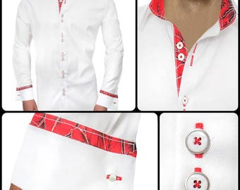 Mens Christmas Accent Dress Shirts - Made in the USA
