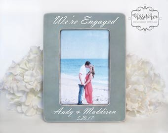 Engagement Gift Engagement Picture Frame Verticle Engagement Frame Engagement Present Were Engaged 4x6 Opening