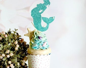 mermaid baby shower cake topper any color pregnant mermaid