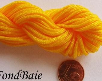 FIL Echeveau 15m nylon tressé 1,5mm JAUNE DIY création bracelet shamballa