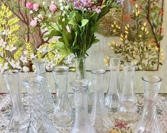 10 Vases Glass Vases Wedding Vases Decorative Vases Glass Vases for Centerpiece Bud Vases Wedding Centerpiece Small Vases Bulk Vases
