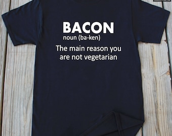 Bacon T-shirt Funny Gift For Bacon Lover Christmas Gift Funny Bacon Shirt Fathers Day Gift Bacon Shirt
