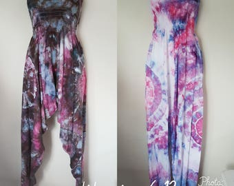 Ice Dyed Tie Dyed Harem Pants/Jumpsuit Assorted Designs - Petite Size