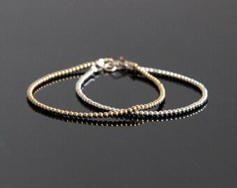 Gold Ball Bracelet –  Perfect Layering Bracelet, 14K Gold Filled Bracelet, Gold Bracelet Dainty, Beaded Bracelet Stack, Stackable Bracelets