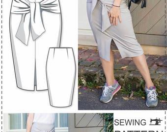 Pencil Skirt Pattern - Skirt Sewing Patterns - Simple Skirt Pattern - High Waisted Skirt Pattern - Pencil Skirt Tutorial - Fashion Patterns