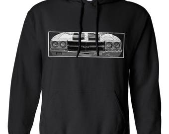 70 Chevy Chevelle SS Hoodie, Unisex Car Sweatshirt, Car Enthusiast, Car Design hooded sweater, Classic Car Gift for Men, Automobilia