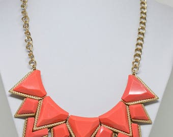 Bright gold tone necklace