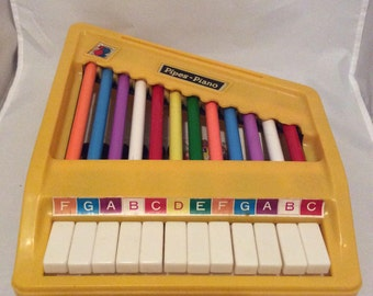 Vintage Wonderful Toys Pipes-Piano Xylophone Toy Piano
