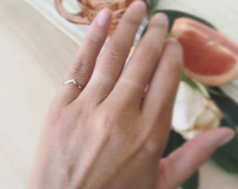 14K Solid Gold Pinky Ring