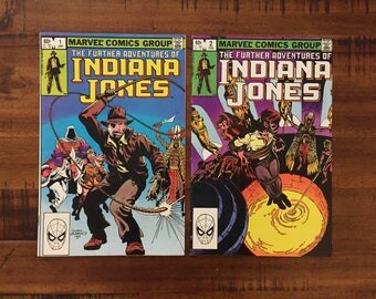 1983 Indiana Jones #1 and #2 Comic Books /Further Adventures of.../Marvel Comics/ VF-FN/ Choose One or Both for a Discounted Price!!!