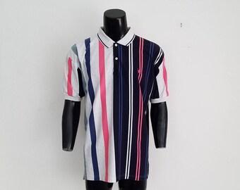 Vintage Stripped Polo Shirt Sz. XL
