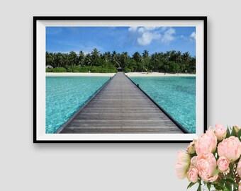 Beach Decor Maldives Wall Art Ocean Instant Download Ocean Decor Sea Print Travel Printable Decor Sea Wall Art Beach