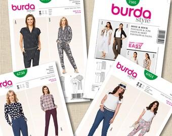 Burda, Jumpsuit, pants, skirt, 6702, 7505, 6750, 6951, 8-34, pattern new, uncut, Promo: 25ETSY45, voir détails