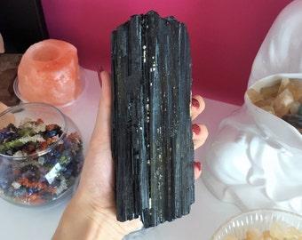Large Black Tourmaline RAW Black Crystal from Minas Gerais, Brazil
