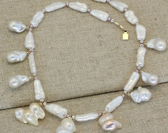 BN210- Mixed Fresh Water Pearl necklace