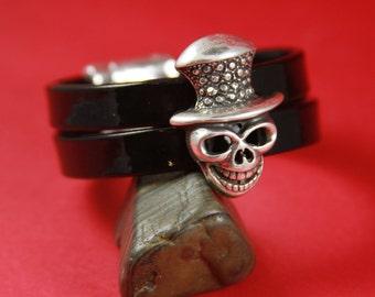 3A/10 MADE in EUROPE zamak skull slider, flat cord zamak slider, zamak large skull slider for 20mm flat cord (76454/20) qty1