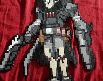 Overwatch Reaper Perler