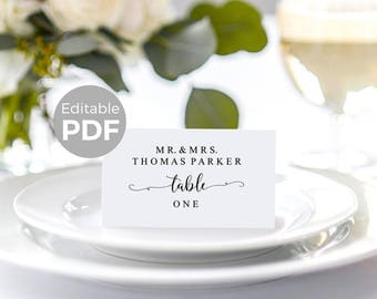 wedding place card template diy editable place cards printable escort card template rustic