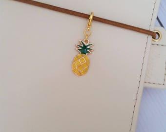 Pineapple Charm / Travelers Notebook Charm / Erin Condren Charm / TN Charm / Planner Charm / Midori Charm / Zipper Charm / Purse Charm