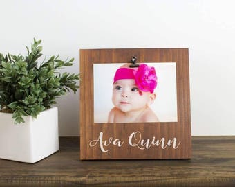 Baby Frame - Rustic Nursery Decor - Gift for New Mom - Desk Picture Frame - Baby Shower Gift - Personalized Picture Frame - Wood Frame