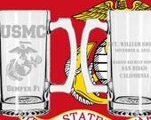 Marine Corps Boot Camp Graduatation Mug - growler - parris island - san diego - grad-