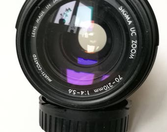 Sigma UC Zoom 70-210 mm 1:4-5,6 for Canon FD Mount. Vintage 1980s SLR Camera Lens