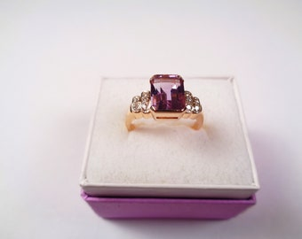 Amethyst 14kt. Yellow Gold Ring.